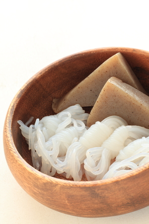 Japanese food, konjac yam Stock Photo - 65410519