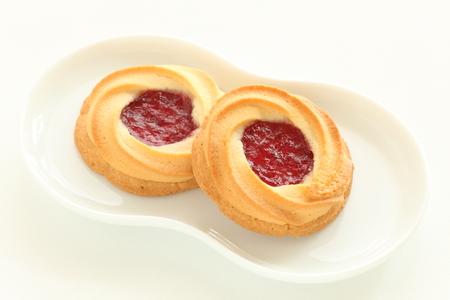 strawberry jam: strawberry jam cookie