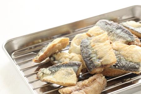 deep fried: deep fried pacific saury Stock Photo