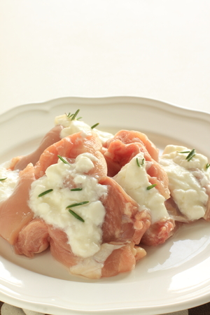 yogurt and chicken tight with rosemary