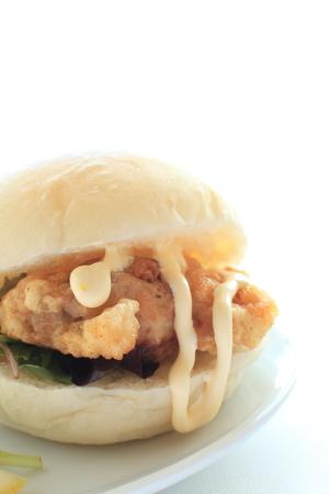 チキン サンドイッチ 写真素材