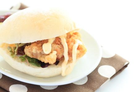 chicken sandwich: chicken sandwich Foto de archivo