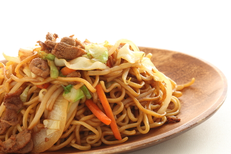 Fired noodles, Chinese food Stock Photo