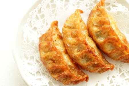 Deep fried Dumpling Gyoza Stock Photo