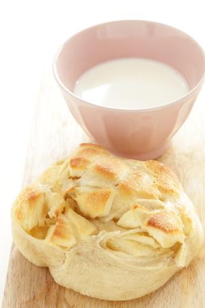 Milk and cheese bread Stock fotó
