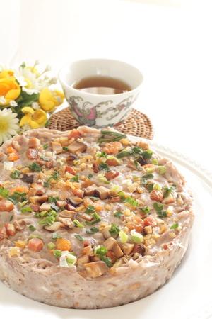 Zubereitetes Essen, gedämpfter Rettichkuchen Standard-Bild - 76555583