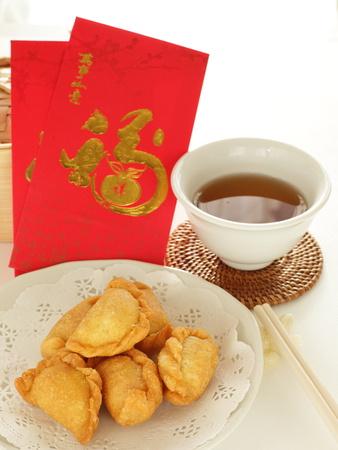 中国の新年の食品、クッキー、紅茶