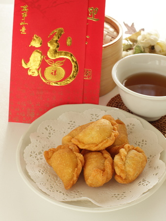 Chinese new year food and drink