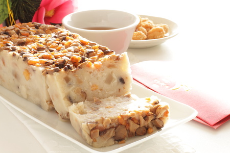 Turnip cake for Chinese new year food image Stock Photo