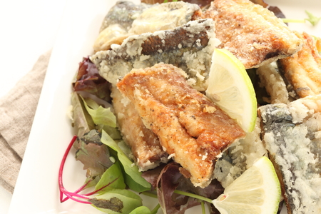 fried Pacific saury