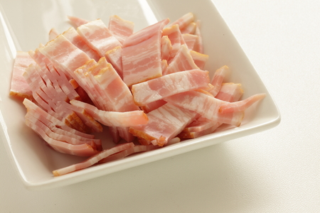 cut bacon for prepared food image