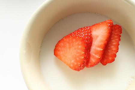 aardbei op gelei gelatine