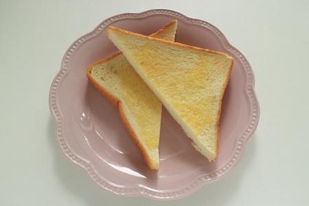 butter toast on dish