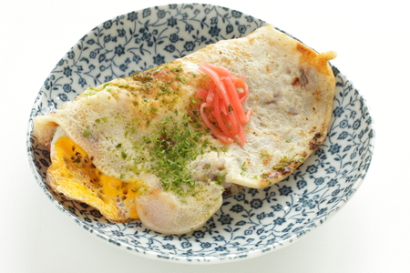 Japanese regional food, squid pan cake Ikayaki
