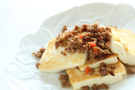 meat pork and tofu for Chinese food image