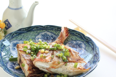 Chinese food, pan fried sea bream