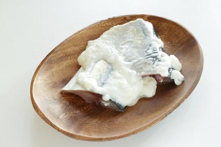 Yogurt marinated mackerel Stok Fotoğraf