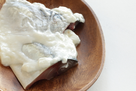 Mackerel marinated by yogurt