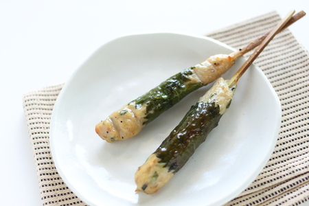 Japanese food, mince chicken Yakitori