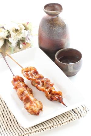 Japanese food, grilled chicken Yakitori
