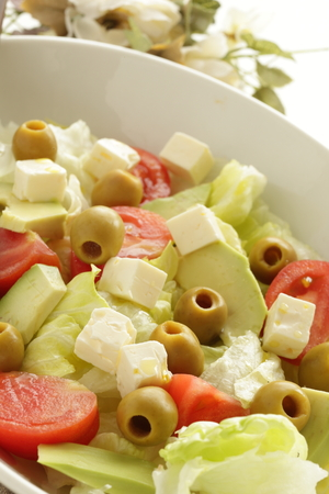 green olive and avocado salad