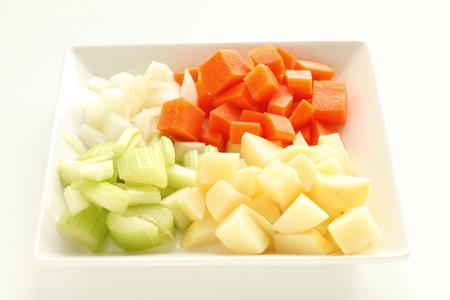 Chopped vegetable Stock Photo