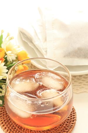 日本の飲料、アイスロースト麦茶 写真素材