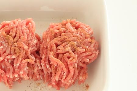 식품 성분 용 갈은 돼지 고기