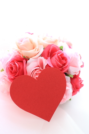 Pink rose artificial flower for background image