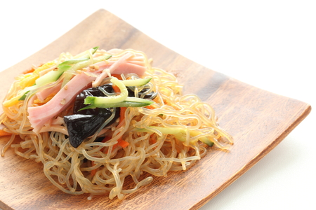 Korean food, Japchae glass noodle mixed