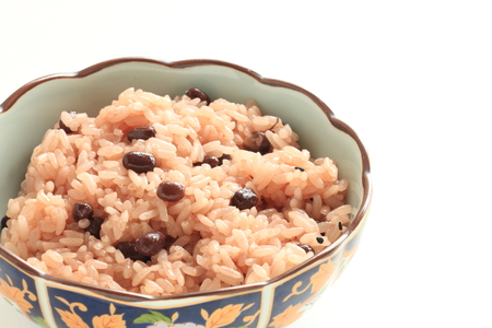 Japanese food, red bean sticky rice Sekihan