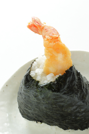 Japanese food, Prawn fried in rice ball Stock fotó - 86668582