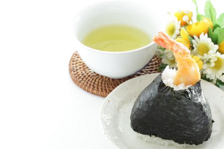 Japanese food, Prawn fried in rice ball
