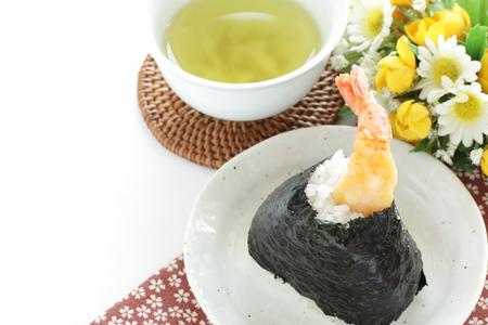 Japanese food, Tempura rice ball Stock Photo