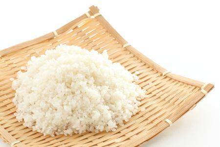 prepared rice on bamboo basket Stock fotó