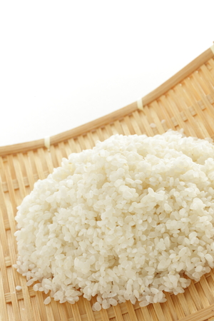prepared rice on bamboo basket Stock fotó - 86321053