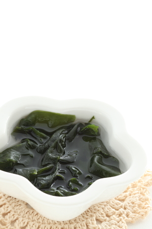 Dried seaweed soak in water Stock Photo