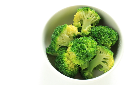boiled broccoli for prepared food image