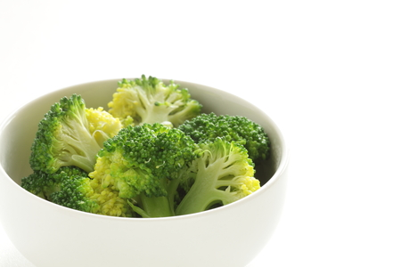 boiled broccoli for prepared food image