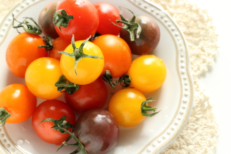 Multiple color cherry tomato from Japan Stock fotó - 85939511