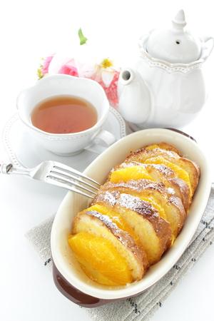 baked orange bread pudding