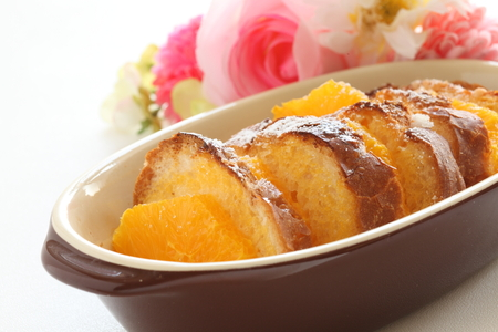 orange and soaked french bread