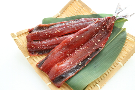 seasoned sesame pacific saury for Japanes food image Stock fotó
