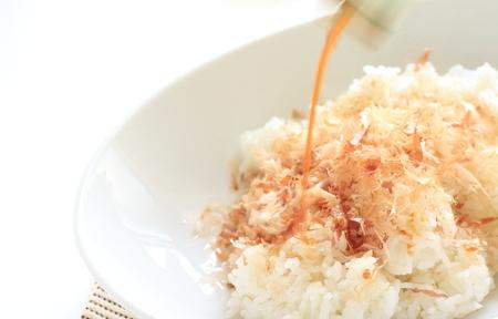 japanese fish flake and rice