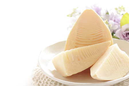 boiled bamboo shoot for spring food ingredient image