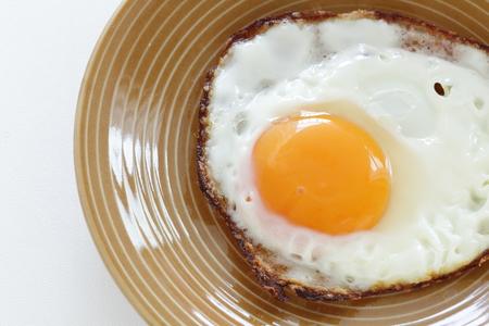 Sunny side up fried egg on dish 版權商用圖片