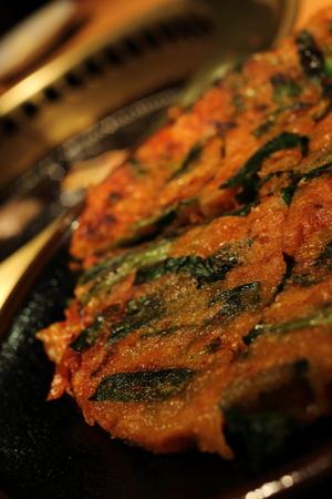 korean food leek jeon