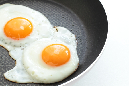 sunny side up fried egg on pan