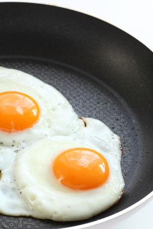 sunny side up fried egg on pan