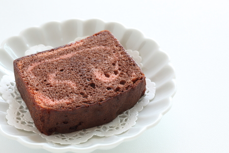 Strawberry and chocolate pound cake